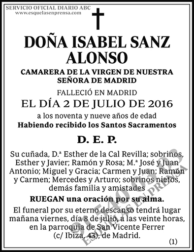 Isabel Sanz Alonso